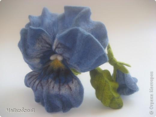 Цветы из шерсти фото 20