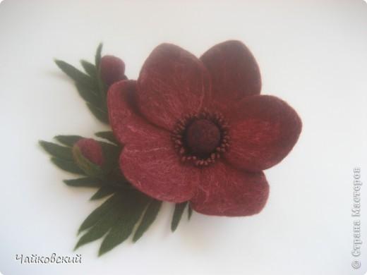Цветы из шерсти фото 31