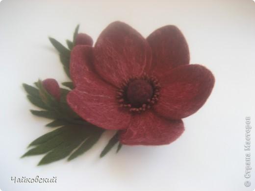 Цветы из шерсти фото 32