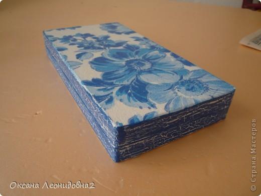 Заметила я что меня что то все тянет на синенькое ,купила вещи себе синенькие,задекупажила купюрницу синеньким !!! фото 3