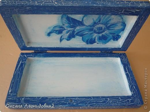 Заметила я что меня что то все тянет на синенькое ,купила вещи себе синенькие,задекупажила купюрницу синеньким !!! фото 5