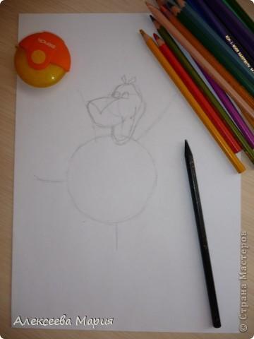 Здравствуйте! Сегодня я хочу показать, как нарисовать Глорию и мультика Мадагаскар. Как её рисовать я нашла в контакте в группе Design it! - укрась свой мир. А сегодня я сама её нарисовала)   фото 5