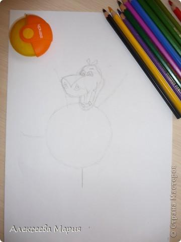 Здравствуйте! Сегодня я хочу показать, как нарисовать Глорию и мультика Мадагаскар. Как её рисовать я нашла в контакте в группе Design it! - укрась свой мир. А сегодня я сама её нарисовала)   фото 6