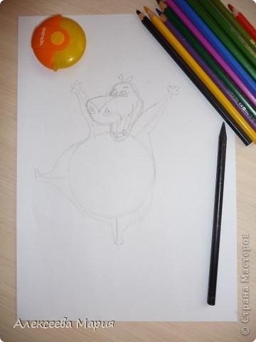 Здравствуйте! Сегодня я хочу показать, как нарисовать Глорию и мультика Мадагаскар. Как её рисовать я нашла в контакте в группе Design it! - укрась свой мир. А сегодня я сама её нарисовала)   фото 8