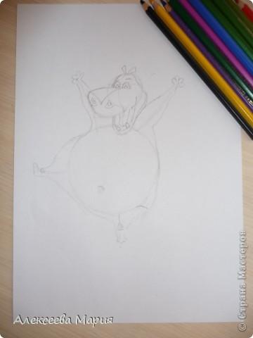 Здравствуйте! Сегодня я хочу показать, как нарисовать Глорию и мультика Мадагаскар. Как её рисовать я нашла в контакте в группе Design it! - укрась свой мир. А сегодня я сама её нарисовала)   фото 9