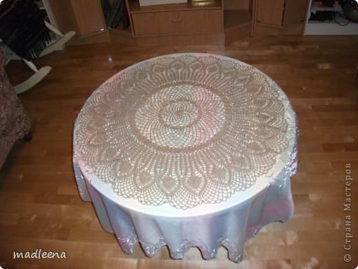 скатерть на круглый столик фото 1