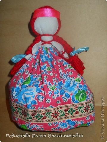"""Это кукла """"Девка  - Баба"""". Кукла готовила девочку к взрослой жизни, показывая, что не всегда жизнь будет беспечной. Кукла Девка - Баба представляет собой куклу - перевертыш. (Сторона """"Девка"""") фото 1"""