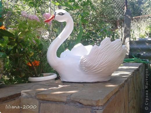Кашпо лебедь фото 1