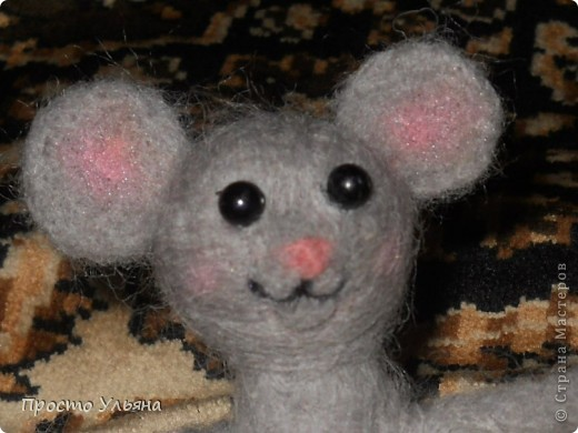 Здравствуйте,сегодня я хочу показать вам мою мышку!!Которую я сваляла на День Рождения моей троюродной сестры,ей исполнилось 18 лет,я решила подарить что-то такое чего нет ни у кого вот и родилась на свет мышаня.Валяля 2-ой раз в жизни что получилось судить вам)) фото 6