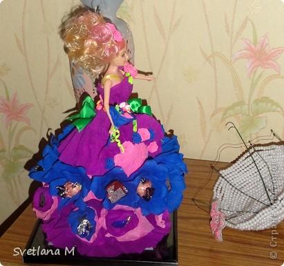 Сделала в подарок девочке Лизоньке!!!Ей исполнилось 4 года!!!Делаю первые шаги в свит-дизайне!!! Спасибо~ Свет9 ~  за вдохновение и понятный МК!!! Очень интересно было работать и вспомнить детство!!!Вот ,что получилось ,не судите строго!!!Устроила фотоссесию куколке!!! фото 4