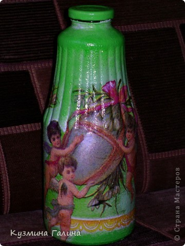Родилась у меня вот такая бутылочка для святой воды в подарок своей подруге фото 5