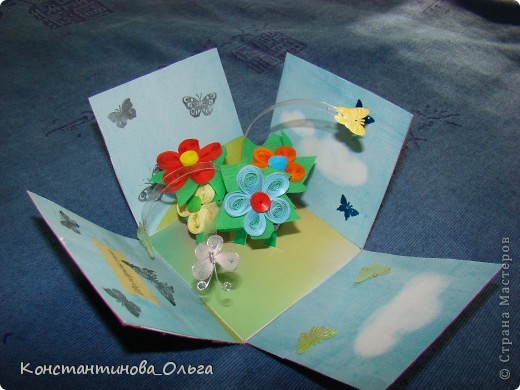 Делала коробочки нескольких видов. В первых внутри были цветы с бабочками.  фото 4