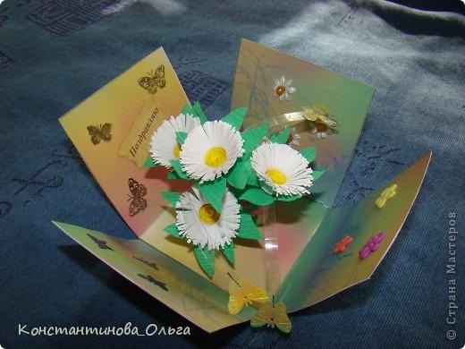 Делала коробочки нескольких видов. В первых внутри были цветы с бабочками.  фото 1