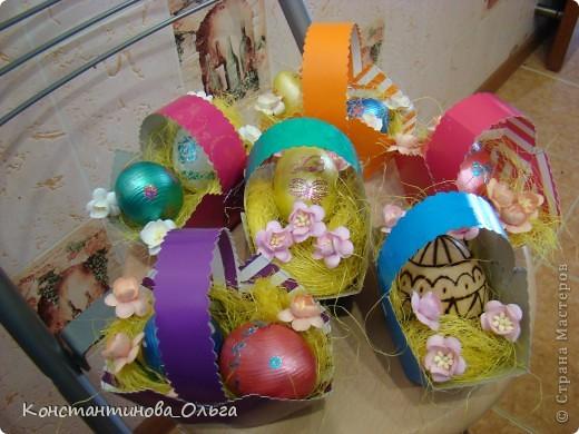 Вместе с сыном делали вот такие простые сувениры к Пасхе.  фото 1
