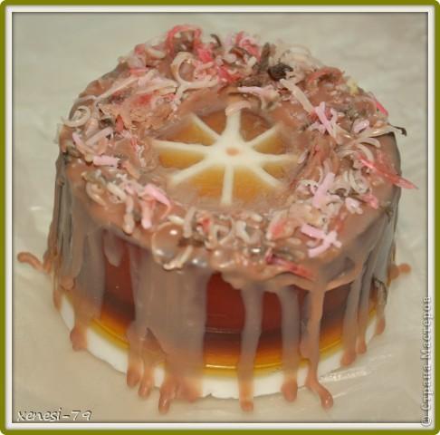 """Мыльный тортик """"Трюфель"""" изготовлен из мыльной основы, аромат- шоколадный трюфель. фото 2"""