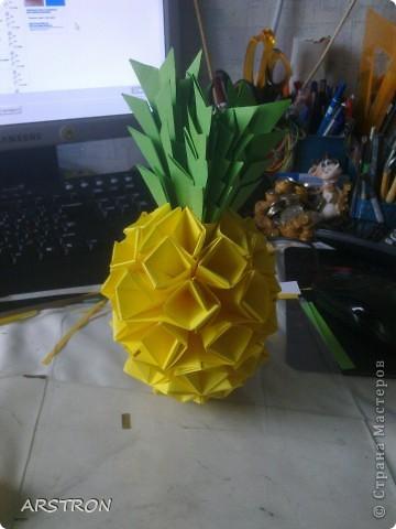 модульное Оригами Ананасик