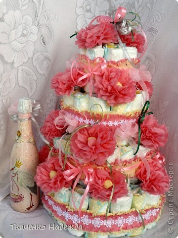 Торт из памперсов. фото 4