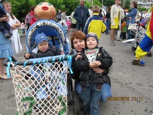 "На параде колясок мы участвовали в номинации ""Сказка"" название ""Золотая рыбка"" фото 3"