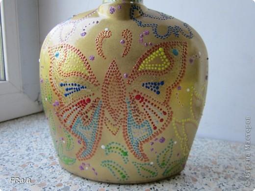 Бутылка с бабочками на юбилей  фото 5