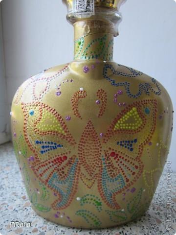 Бутылка с бабочками на юбилей  фото 4