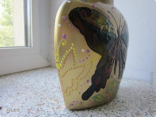 Бутылка с бабочками на юбилей  фото 6