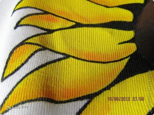подсолнухи. рисунок на ткани фото 2