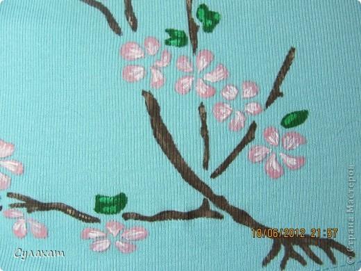 Сакура. рисунок на ткани фото 2