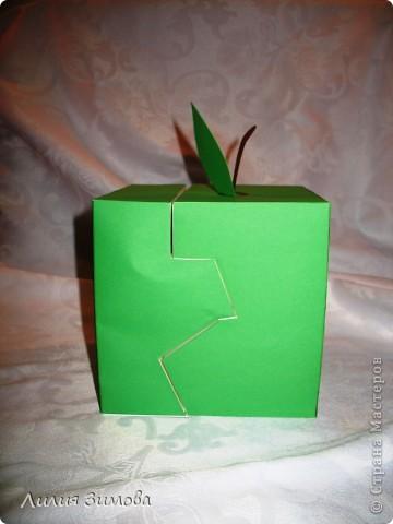Вот такое у меня  выросло эксклюзивное яблочко для конкурса )))Размер 15*15 фото 2