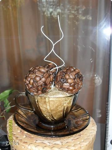 Здравствуйте, Мастерицы! Проснулась я от спячки и родилась у меня новая работа - чашечка кофе.  фото 2