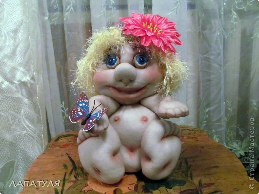 Попробовала повторить куклу Pawy - Елены Лаврентьевой, и вот что получилось фото 1