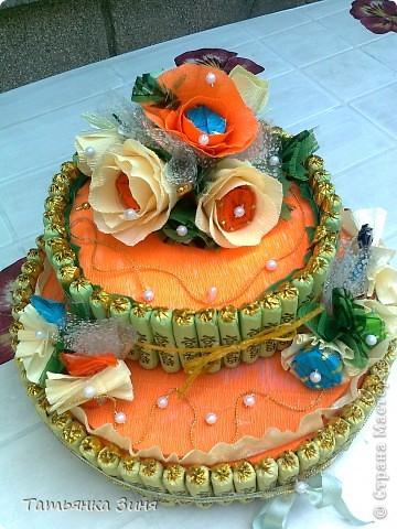 Мой первый тортик ко Дню рождения сестре фото 1