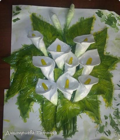 Вот такая картина с каллами у меня получилась, благодаря подробному мастер-классу Мэрисабэльки (http://stranamasterov.ru/node/236898), за что я ей очень благодарна!!!!! фото 3