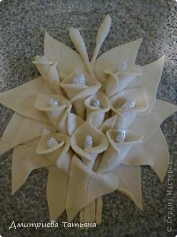 Вот такая картина с каллами у меня получилась, благодаря подробному мастер-классу Мэрисабэльки (http://stranamasterov.ru/node/236898), за что я ей очень благодарна!!!!! фото 2
