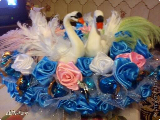 Букет -розы и конфеты фото 5