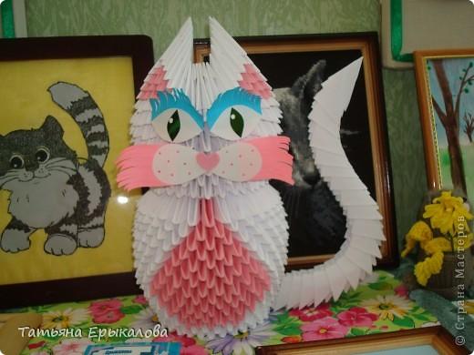 Давно хотелось сделать из модульного оригами кошечку, а то у меня все птички, да птички... фото 1