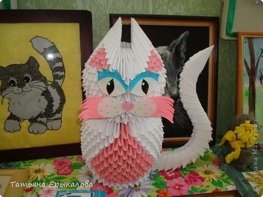 Давно хотелось сделать из модульного оригами кошечку, а то у меня все птички, да птички... фото 2