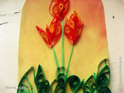 Тюльпаны в технике квиллинг фото 2