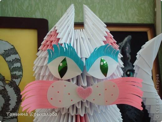 Давно хотелось сделать из модульного оригами кошечку, а то у меня все птички, да птички... фото 3
