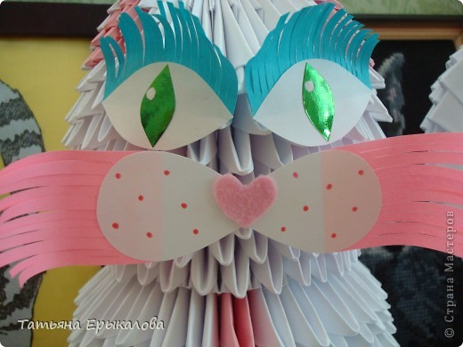 Давно хотелось сделать из модульного оригами кошечку, а то у меня все птички, да птички... фото 4