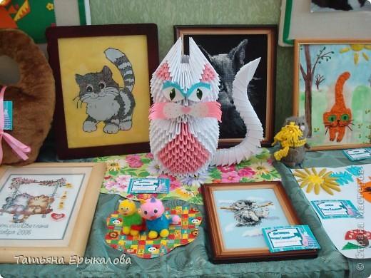Давно хотелось сделать из модульного оригами кошечку, а то у меня все птички, да птички... фото 6