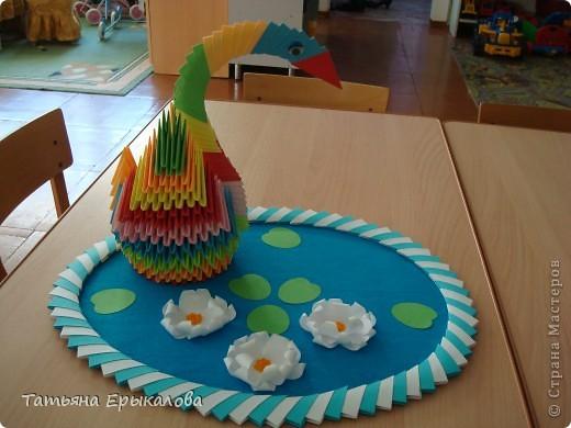 Мой первый опыт создания поделки в технике модульное оригами! Наверно большинство из нас именно с радужного лебедя начинает знакомство с этим замечательным видом искусства... фото 6