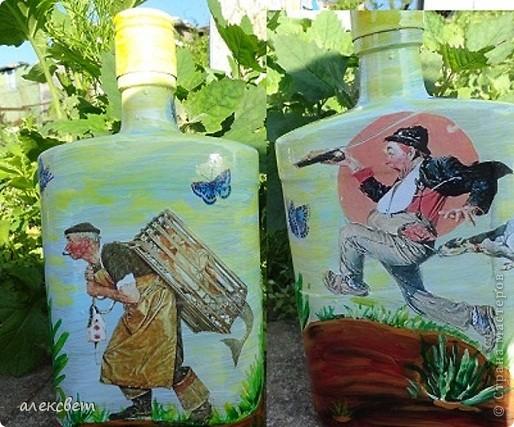 Здраствуйте мастера и мастерицы! Вот очередные бутылочки. фото 1