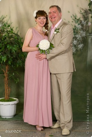 Букет невесты (хризантемы, рускус, гипсофила, портбукет) фото 5