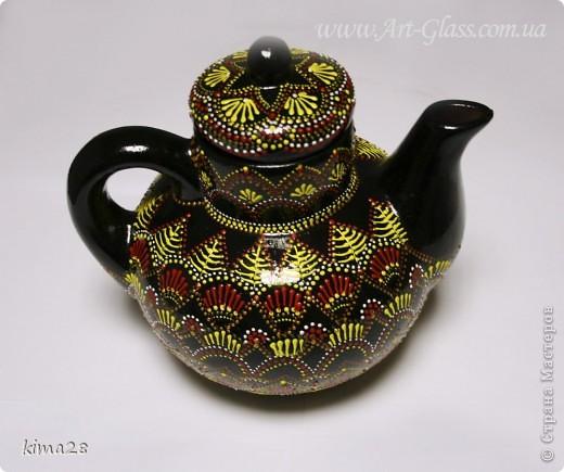 """Набор """"Дачный"""" - чайник и сахарница Вот что может получиться из старого совковского чайника!) фото 2"""