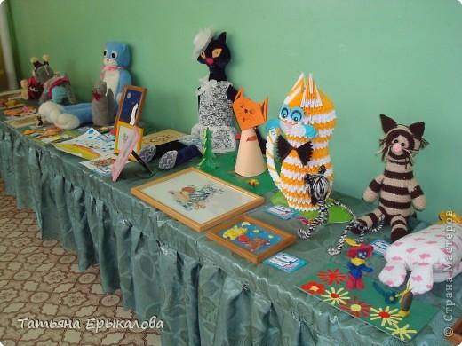 """В нашем детском саду проходила выставка работ на тему: """"Мартовские коты"""". В ней принимали участие дошколята, родители и педагоги. Так как  увлекаюсь модульным оригами, решила   представить на выставке вот такого Рыжего кота. фото 8"""