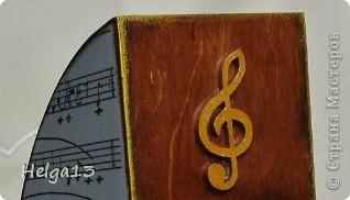 Молодому музыканту (сыну подруги) сделала в подарок подставку для нот... фото 7