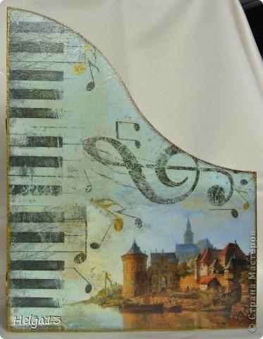 Молодому музыканту (сыну подруги) сделала в подарок подставку для нот... фото 6