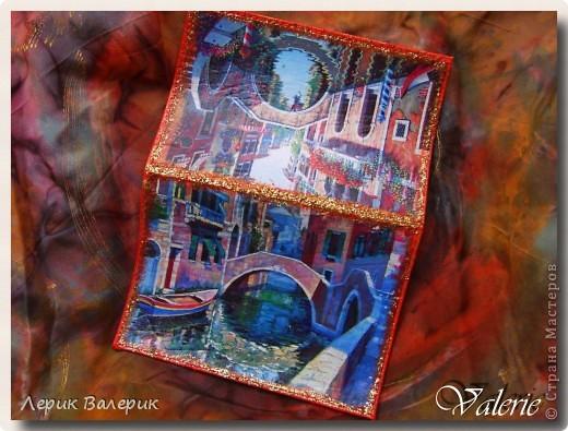"Обложки на паспорт. 1. ""Венеция""(использовала распечатки) фото 1"