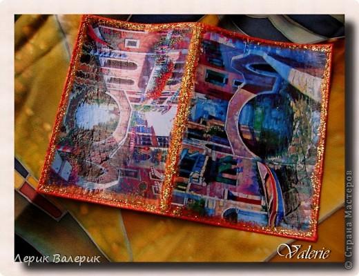 "Обложки на паспорт. 1. ""Венеция""(использовала распечатки) фото 2"