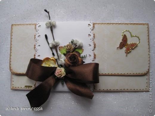 """конверты для денег """"бежевые"""" фото 1"""